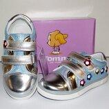 Туфли кроссовки для девочек Том серебряные 31 р