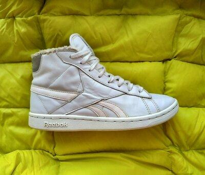 Демисезонные Кроссосвки кеды ботинки Reebok -100% оригинал, натуральная кожа 37размер