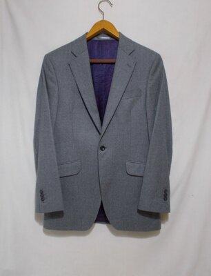Пиджак слим серый меланж шерсть 120s 'Austin Reed' 48р