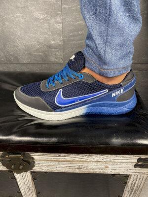 Мужские кроссовки текстильные летние синие-голубые CrosSAV