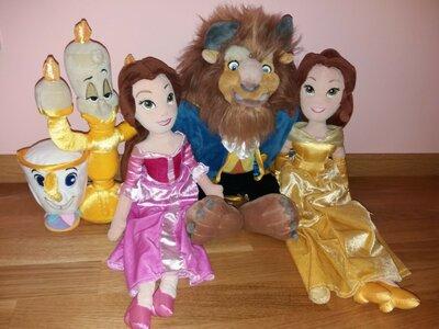 Мягкие куклы 50 см игрушки персонажи из мультфильма Красавица Бель и чудовище от Disney Дисней
