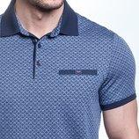 Синяя мужская футболка поло Caporicco Турция большого размера