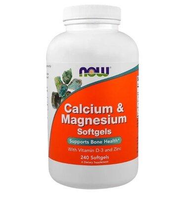 Now Foods, Кальций и магний, с витамином D-3 и цинком, 240 шт. Сша