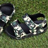 Детские пляжные босоножки сандалии на мальчика камуфляжные р24-29