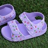 Детские пляжные босоножки сандалии Adidas сиреневые р24-29