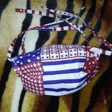 Маска/маски многоразовые, хлопок, внутри 2 слоя марли, на завязках, Америка