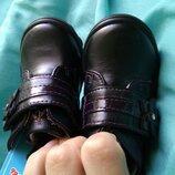 Детские туфли ботинки на девочку 13см кожа