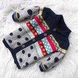 Стильная теплая кофта свитер реглан Catimini