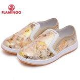 Кожаные мокасины Фламинго