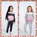Стильный костюм для девочек со звездами 98-146