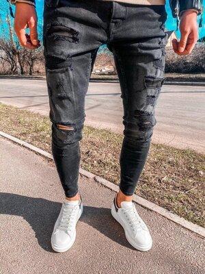 2020. Варианты. Европейское качество. Мужские стильные джинсы рваные зауженные 2Y Premium 5156