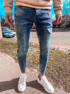 2020. Варианты. Европейское качество. Мужские стильные джинсы рваные зауженные 2Y Premium 6098
