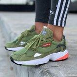 Женские кроссовки Adidas Falcon Green 36-40