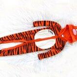 Качественный комбинезон ромпер Человечек с капюшоном и ушками Disney Tigger