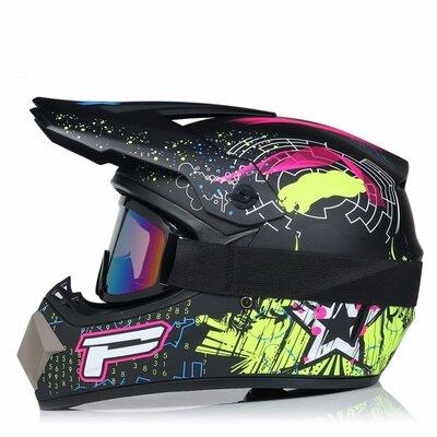 Шлем мотокроссовый, квадроцикл, питбайк, снегоход, мопед Новинка
