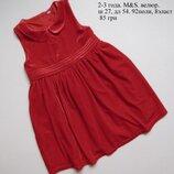 2-3 года. M&S. Платье