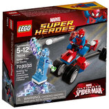 LEGO Super Heroes Трехколесный мотоцикл человека-паука против Электро 76014