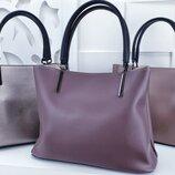 Трендовые сумочки люкс качества цвета какао, темная пудра, баклажан