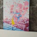 Картина красками Утро в Париже