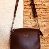 Женская сумочка zara клатч кож.зам на плечо сумка кросс-боди. бордо