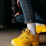 Кроссовки женские Fila Disruptor 2 Yellow