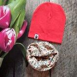 Стильний комплект шапка і хомут Якість класна