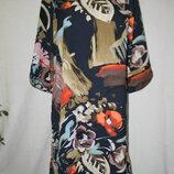 Платье прямого кроя с красивым принтом Marks & Spencer 14p