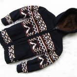 Стильная теплая кофта реглан свитер бомбер с капюшоном Rebel
