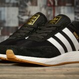 Кроссовки женские Adidas Iniki, черные с белым