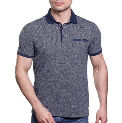 Модная серо-синяя рубашка Caporicco с воротом на кнопках распродажа