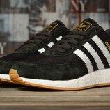 Кроссовки мужские Adidas Iniki, черный с белым