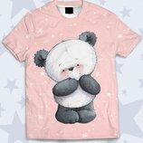 Детская футболка 3D Милый мишка Огромный выбор