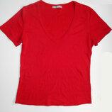 Красная женская хлопковая футболка M&S Sri Lanka