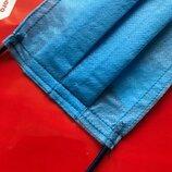 Маски трёхслойные синие 500 штук