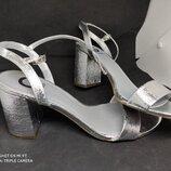 Серебряные босоножки 42 размер