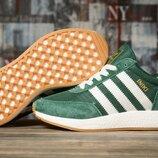 Кроссовки женские 16875 Adidas Iniki, зеленые