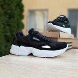 Кроссовки женские Adidas Falcon черные