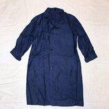 Халат синий рабочий, спецодежда для уроков труда р.46 плотная ткань