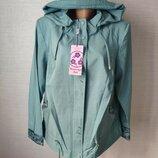 Женская демисезонная куртка ветровка плащ