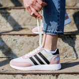 Кроссовки женские Adidas Iniki Runner Pink Core Black/White