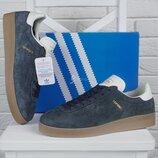 Кроссовки мужские замшевые Adidas Topanga темно синие Вьетнам