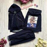 Модный костюмчик ткань джинс-двунитка