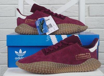 Кроссовки мужские замшевые Adidas Kamanda Ortholite red бордовые