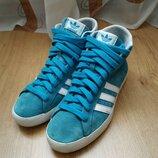 Замшевые высокие кроссовки от Adidas