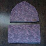 Продам демисезонный набор шапка хомут на 7-9 лет в идеальном состоянии
