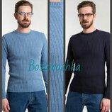 Мужской весенний джемпер, хлопок. вязаный мужской свитер. весенний джемпер. Чоловічий весняний светр