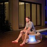 Надувное кресло Bestway 82 х 82 х 41 см с LED подсветкой 75085