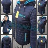 42-66, цвета. Демисезонная женская куртка-трансформер, большие размеры. Жіноча куртка
