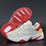 Женские кроссовки Nike M2K Tekno. Beige Red