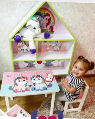 Набор детской деревянной мебели Столик и стул, стол и стул дерево, ламинированный, влогоустойчевый
